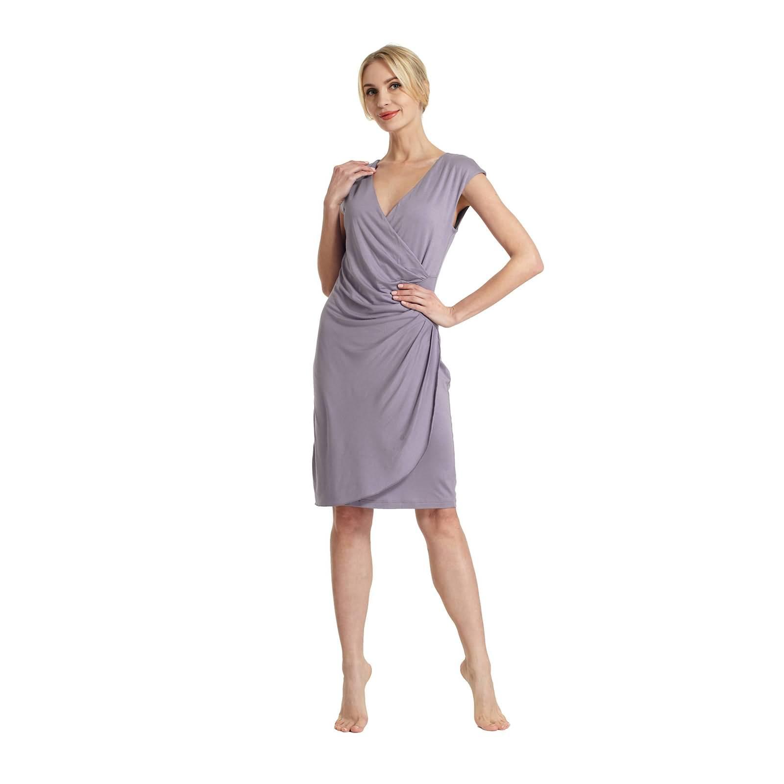 Raikou Damen Etui Kleid Jersey Dress, Knielang, Blusenkleider ...
