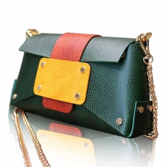 RAIKOU Damen Handtasche aus pflanzlich gegerbtem Leder italienische Lederwaren  Abendtasche Echt-Leder Schultertasche Umhängetasche schönes Vintage Design Vegetable-tanned leather cross-body bag