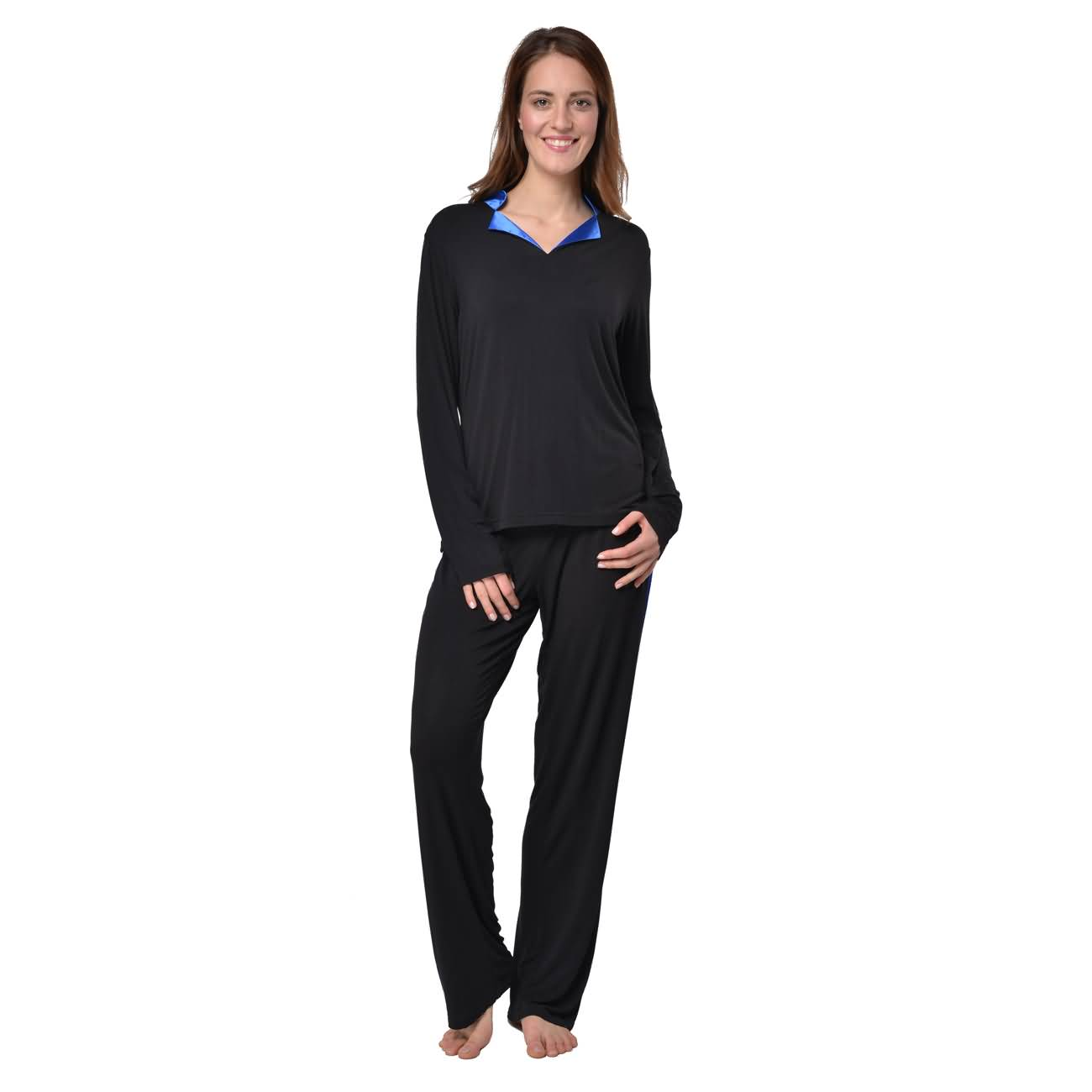 huge selection of fb3c6 ecf91 RAIKOU Damen Langarm Pyjama Schlafanzug Hausanzug ...